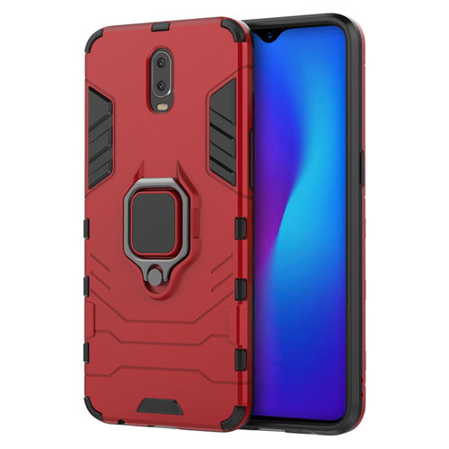 Slim Armour Shockproof Case & Magnetic Ring Holder for Oppo R17 - Red